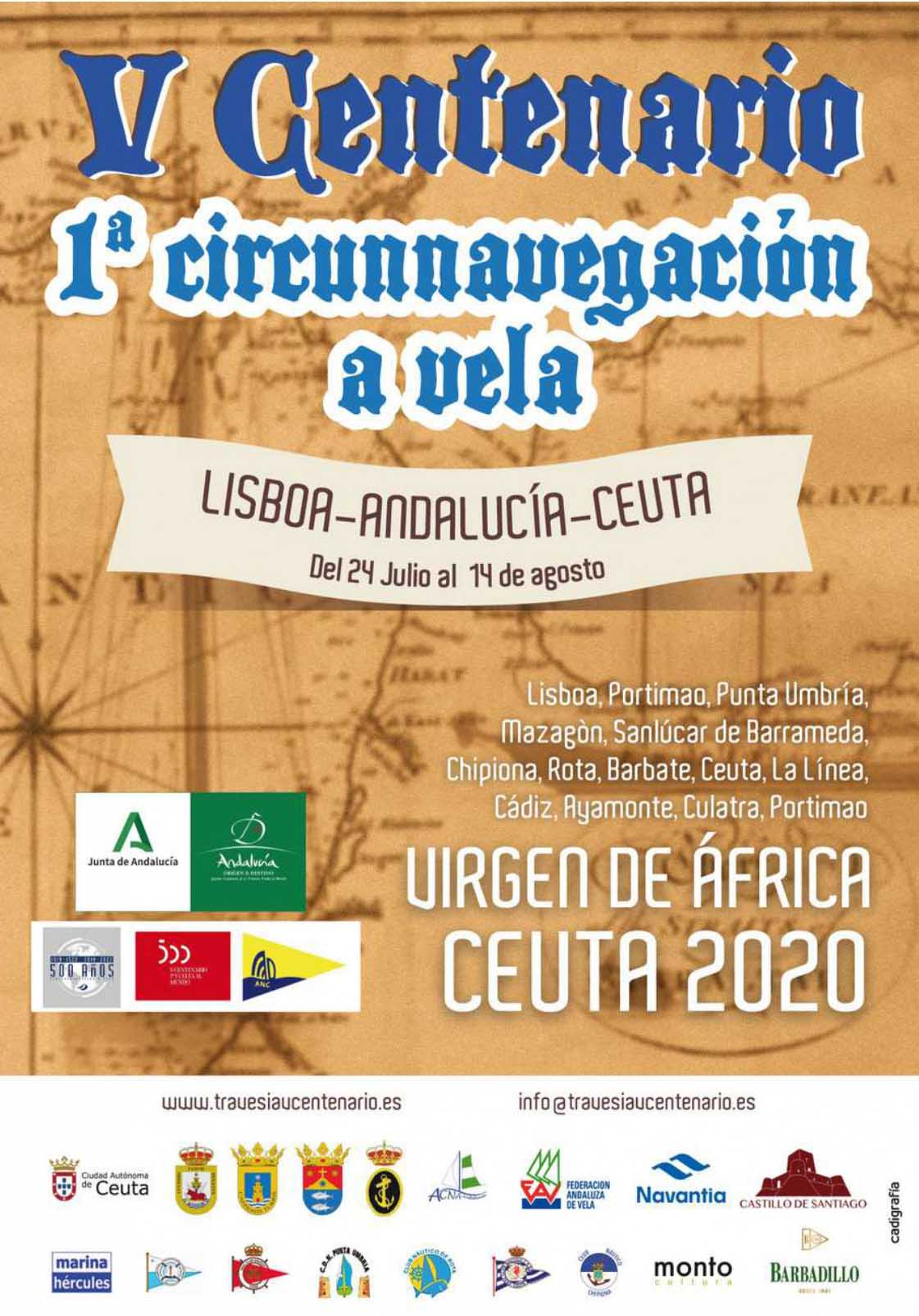 PRESENTAMOS EL CARTEL DE LA TRAVESÍA LISBOA-ANDALUCÍA-CEUTA 2020