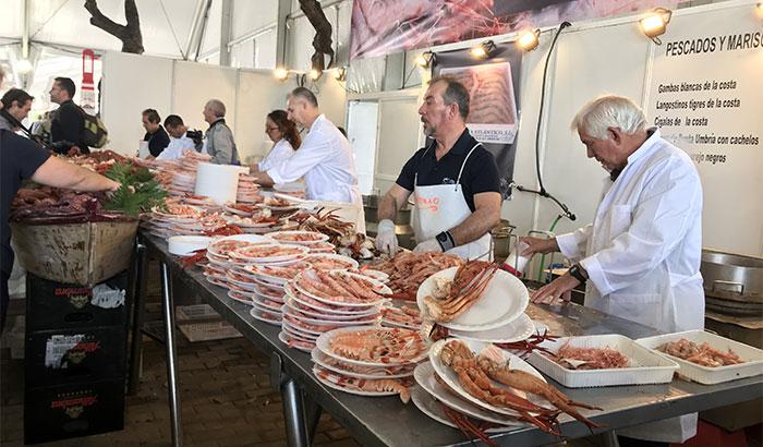Punta Umbría celebra su 25 Feria de la gamba, el boquerón y la chirla